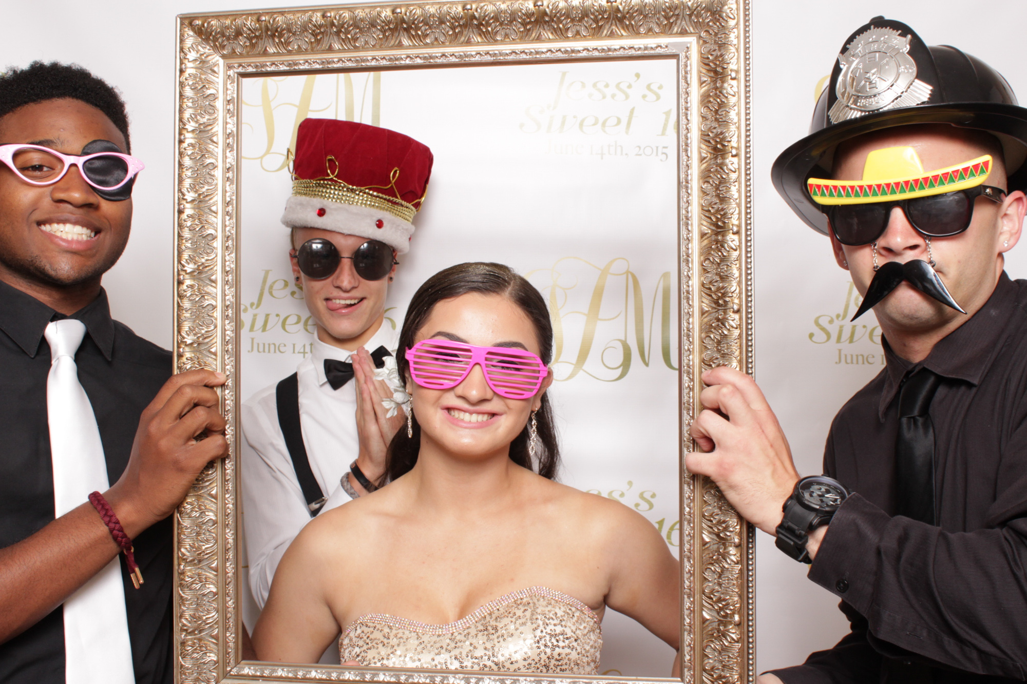 nyc photo booth sweet sixteen