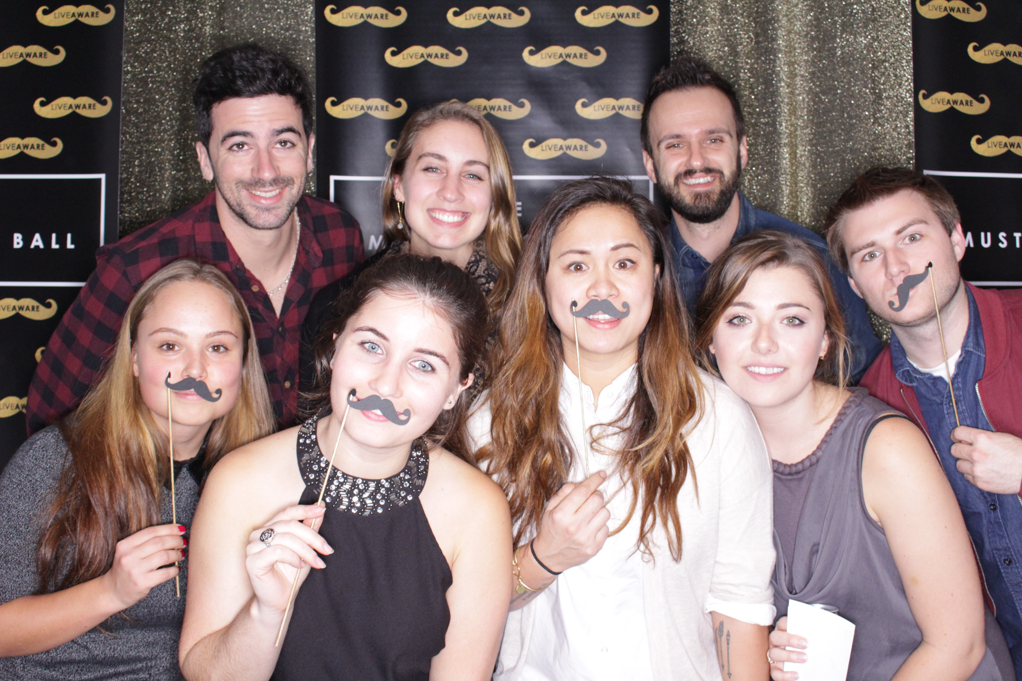 nyc photo booth corporate photo booth mustachio ball